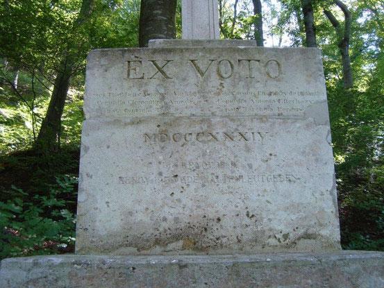 Inschrift aus 1834
