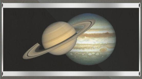 Saturn und Jupiter