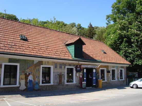 Das Restaurant 'Kaiserziegel', früher das Gasthaus Biermeier, wo die Massen zum Skifahren auf die Norwegerwiese aufgebrochen sind