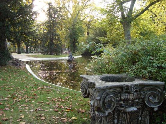 Teich vor dem Sommerpalais im Liechtensteinpark