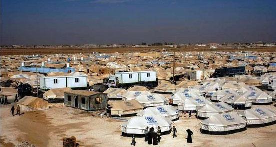 UN-Flüchtlingslager Zaatari im Norden Jordaniens. Im von der UNO verwalteten Flüchtlingslager leben derzeit 83.000 Menschen. (Kurier)