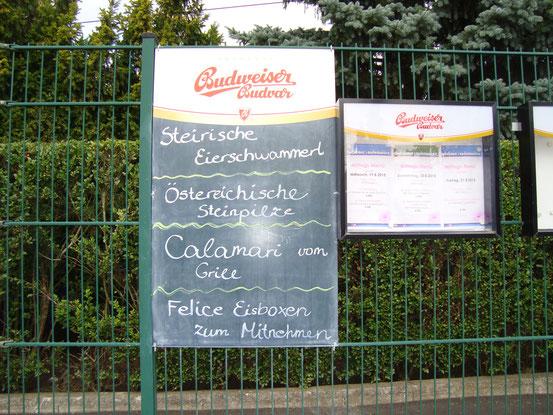 Spezialitäten im 'Schutzhaus Laudonwiese'