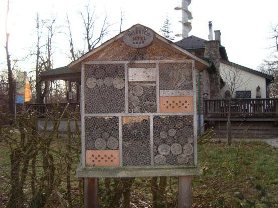 Insektenhotel neben der Wiener Waldschule