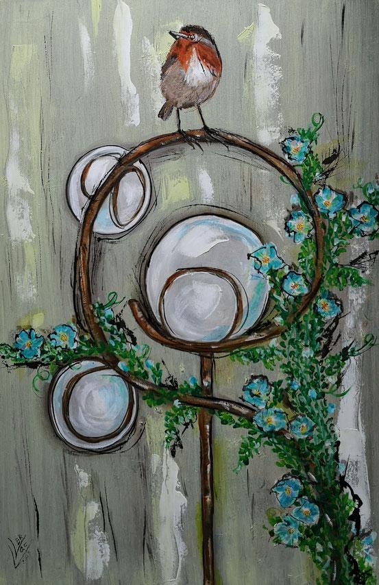 48. Robin garden ornament 40x60 cm