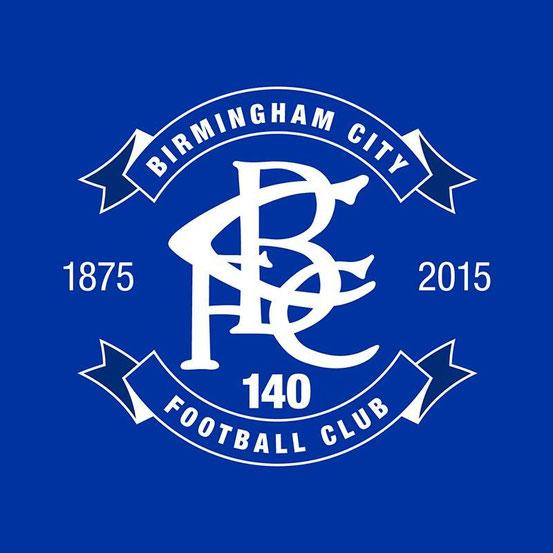 Das Wappen des Birmingham City Football Club im Jubiläumsjahr 2015