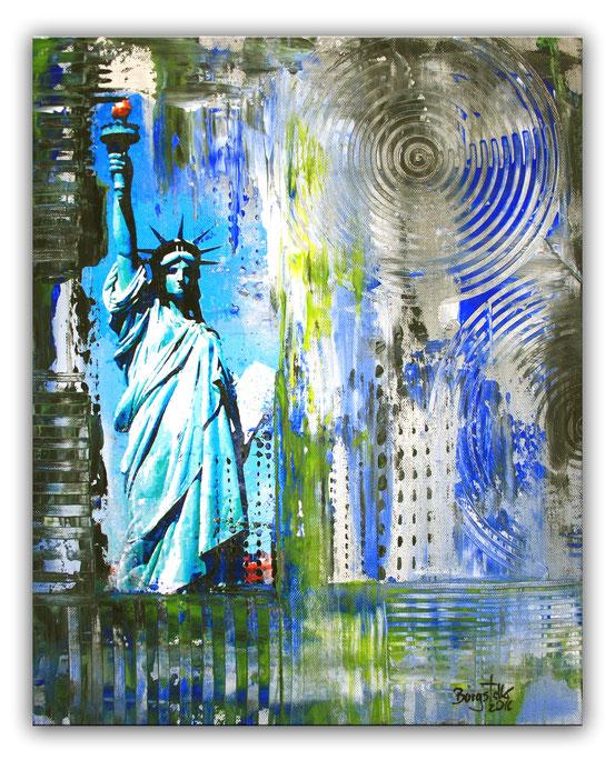 Freiheitsstatue II Statue of Liberty - Umdruck Gemälde und abstrakte Kunst Malerei