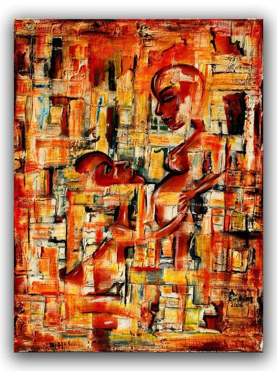HINGABE - Figuren Bild - Figürliche Kunst Malerei - Original Gemälde Modern - Spachtelbild