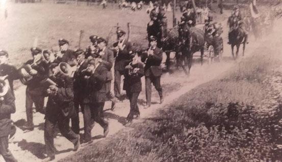 Schützenumzug mit Königskutsche 1933