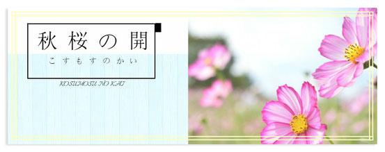 秋桜の開 バナー