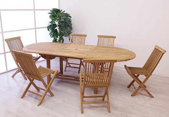 tavolo legno teak sedie arredo giardino
