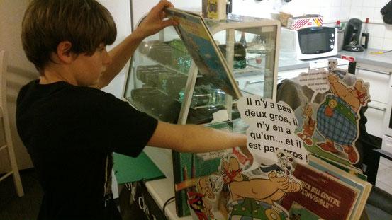Octave avait selectionné un grand nombre des oeuvres de Goscinny