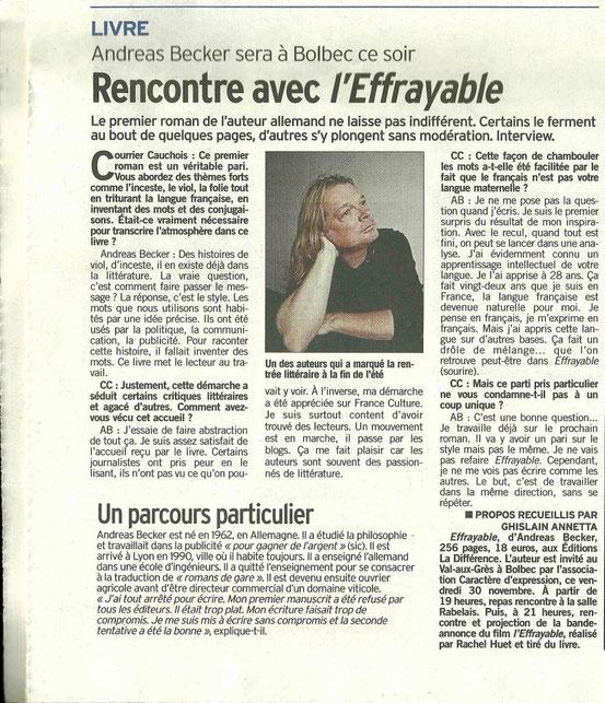 Merci à Ghislain Annetta du Courrier Cauchois