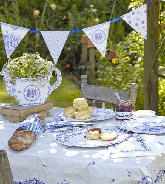 Party Porcelain Talking tables blau-weiss Picknick