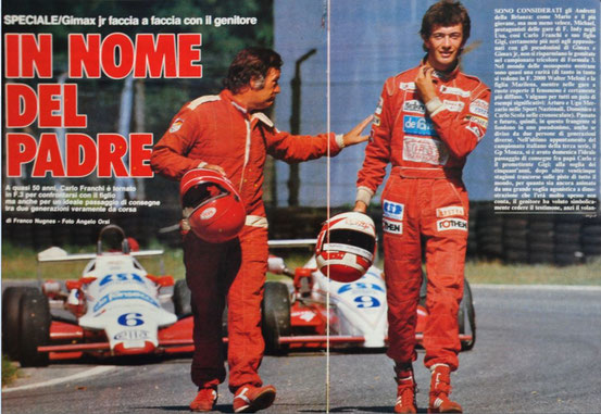 Papà ''Gimax'' con ''Gimax Junior'' al Campionato Italiano di F.3 a Monza