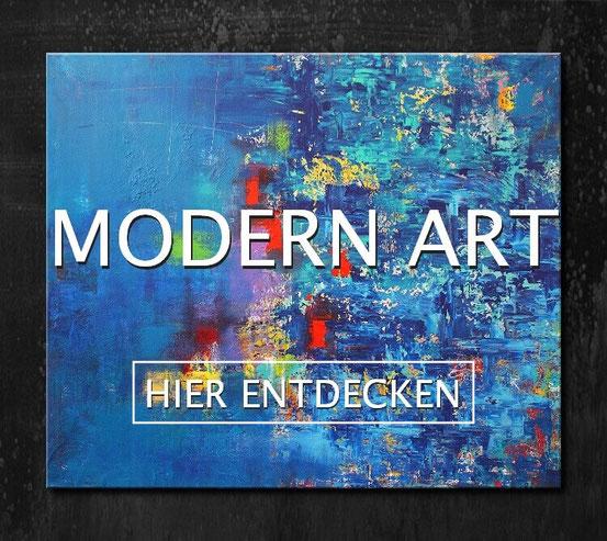 Abstrakte Malerei Acryl auf Holzkeilrahmen im Modern Art Style