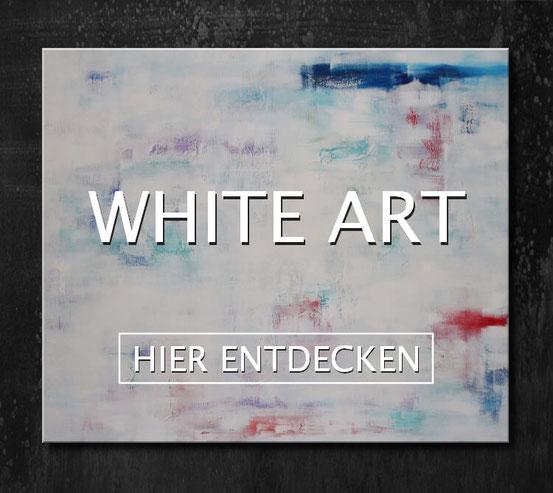 Einzigartige abstrakte Acrylbilder im White Art Style