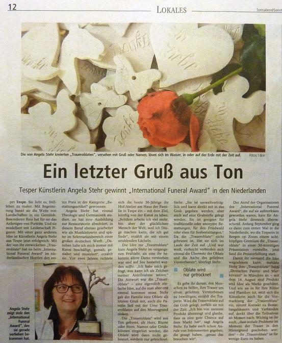 Lüneburger Zeitung, 2. November 2013