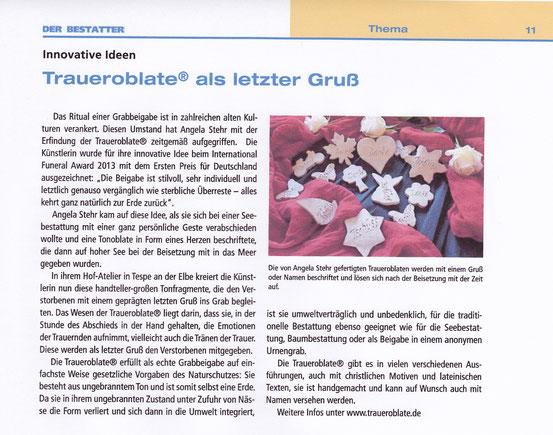 Der Bestatter, 28. November 2014, Deutsches Institut für Bestattungskultur GmbH