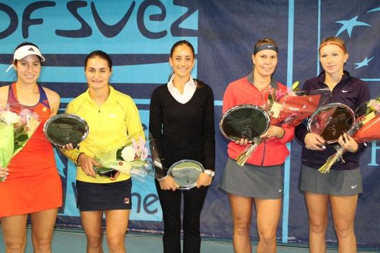 Vainqueurs, finalistes et arbitre de la finale des doubles