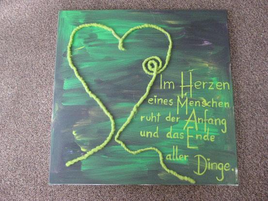 """Acrylbild: """" Im Herzen eines Menschen... """""""