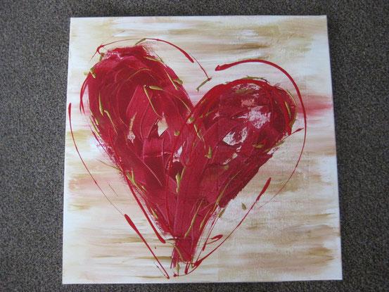"Acrylbild "" Red Heart """