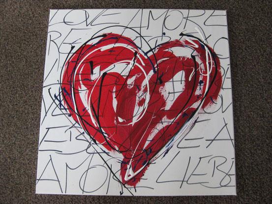 "Acrylbild: ""Love - Liebe - Amore "" - VERKAUFT"