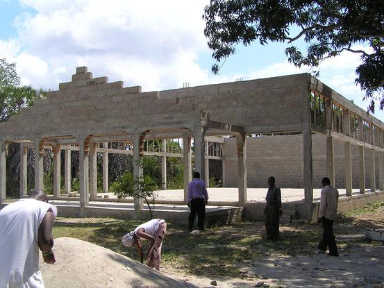Veranstaltungshalle (Vocation Hall) im Bau