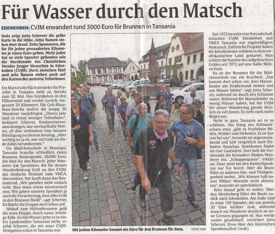 Die Rheinpfalz, 24. September 2014