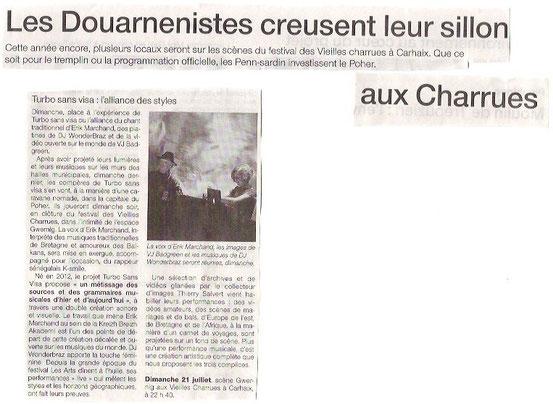 Ouest France du 19/07/13