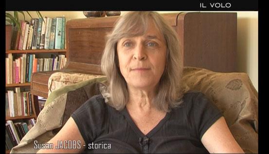 La storica neozelandese Susan Jacobs durante l'intervista per il documentario