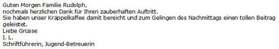 Veranstalter Kräppelkaffee MGV Euterpia Leiselheim 02/14