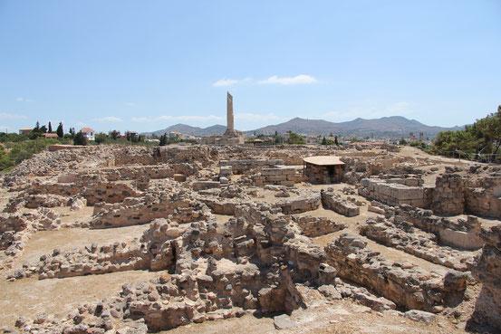 Prähistorische Innenstadt von Westen (2013)
