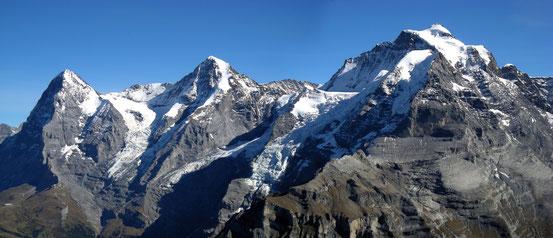 Eiger - Möch - Jungfrau (v.l.n.r.)