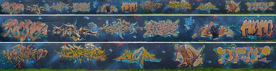 """""""Dizoe´s B-Day"""" Shine, W., CoRe, RekZ, AbYz, MisM, Keon, DiZoE, SiGmA (Kurb), OtiK, Disoe (Ator) (Foto: DIZOE)"""