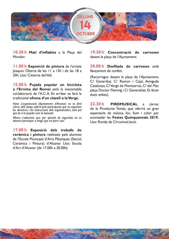 Programa de las Festes del Remei en Alcanar