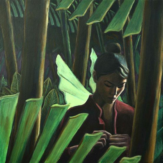 philipp christoph haas | [lichtung] aus der serie 'un jardin pendant la mousson' | akryl auf leinwand, 2020