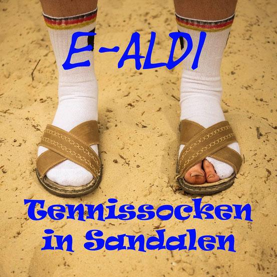 """Neu: E-ALDI - Tennissocken in Sandalen 7"""" Vinyl mit 4 neuen Hits !!!"""