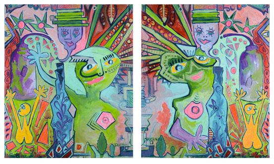 Affiches d'après tableau Héliquadrisme / © HELIQUADRISME de JF SAVORNIN