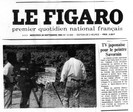 Article du Figaro sur JF Savornin