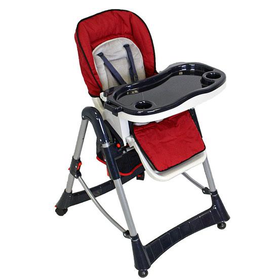 Chaise Haute Bébé / Enfant en Rouge