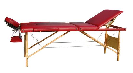 Table de Massage en 3 Zones Rouge