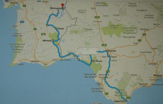 19. bis 25.April Algeciras - Monsaraz - Womo-Nomaden