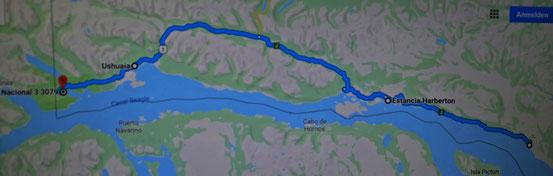Mal links an's Ende der Ruta 3  und mal rechts bis ans Ende in Moat