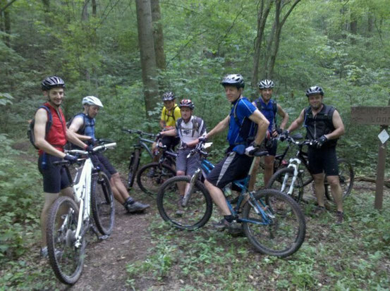 Dedicated RVMBA members ready to ride the legendary Archer's Fork Loop Trail.