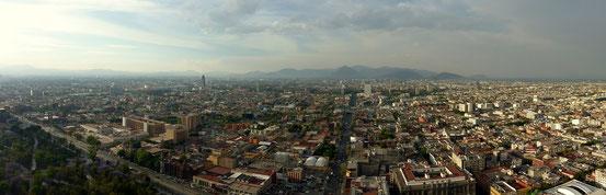 Atemberaubender Ausblick über Mexico-City
