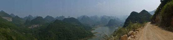 Karstlandschaft nahe Guilin.