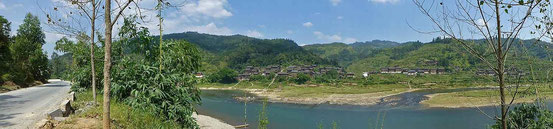 Gemütliches Radeln entlang des Duliu Flusses.