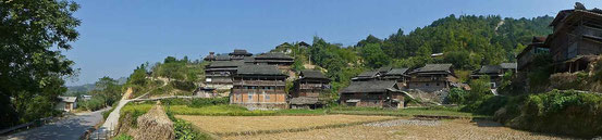 Wunderschönes Miao Dorf.