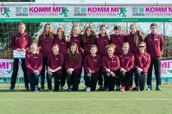 Die C-Mädchen der SG Widdig / Hersel, hier ein Mannschaftsbild vom März beim internationalen KOMM-MIT-Turnier in Barcelona