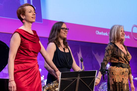von links: Katrin Weber, Viola Falb, Jutta Speidel. Foto: Eric Krügl